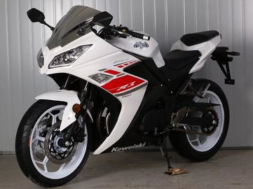 China Gas Motor  Street Sport Motorcycles , 250cc Cool Sport Bikes / Street Bikes White Color supplier