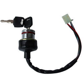 Dirt Bike 6 Wire Ignition Switch , Black Color Go Kart Ignition Switch