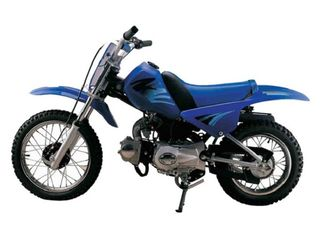 Blue Off Road And On Road Motorcycle 4 Stroke Engine Front Rear Drum