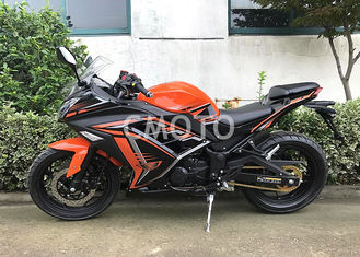Digital Speedmeter Orange Black Street Sport Motorcycles Mufler Stainless Steel Muffler