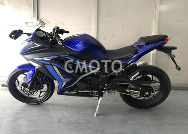 Durable Street Legal Motorcycle , Blue Black Small Street Motorcycles