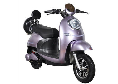 China Fast Charging Electric Motorcycle Scooter 55 Km / H Max Speed High Safety Purple supplier