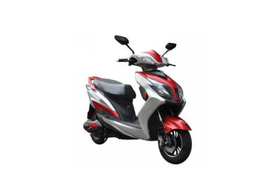 Lightweight Electric Motorcycle Scooter White Red Color With 1000W Motor