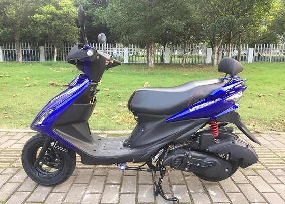 Front Disc Brake Two Wheel Gas Scooter Electric Kick Start System Hydraulic Suspension