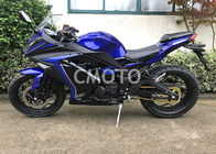 China Blue Black Plastic Body Gas Street Sport Motorcycles Alloy Wheel Disc Brake company