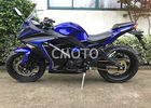 Blue Black Plastic Body Gas Street Sport Motorcycles Alloy Wheel Disc Brake