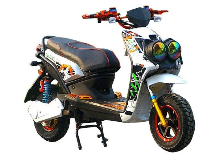 Two Wheeler Battery Operated Electric Scooter 2 Seats 72V