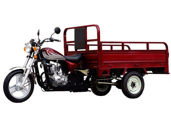 Heavy Duty Three Wheel Cargo Motorcycle , 250CC Three Wheel Bike With Motor
