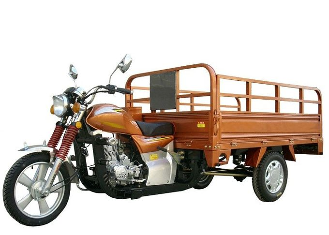 250cc Three Wheel Cargo Motorcycle , Cargo Motor Tricycle Air Cooling Engine