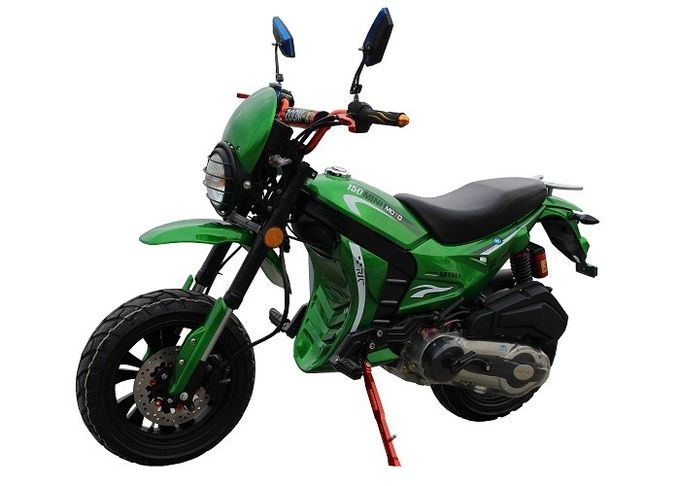 Green Color Body Gas Dirt Bikes High Speed With Front Disc Rear Drum